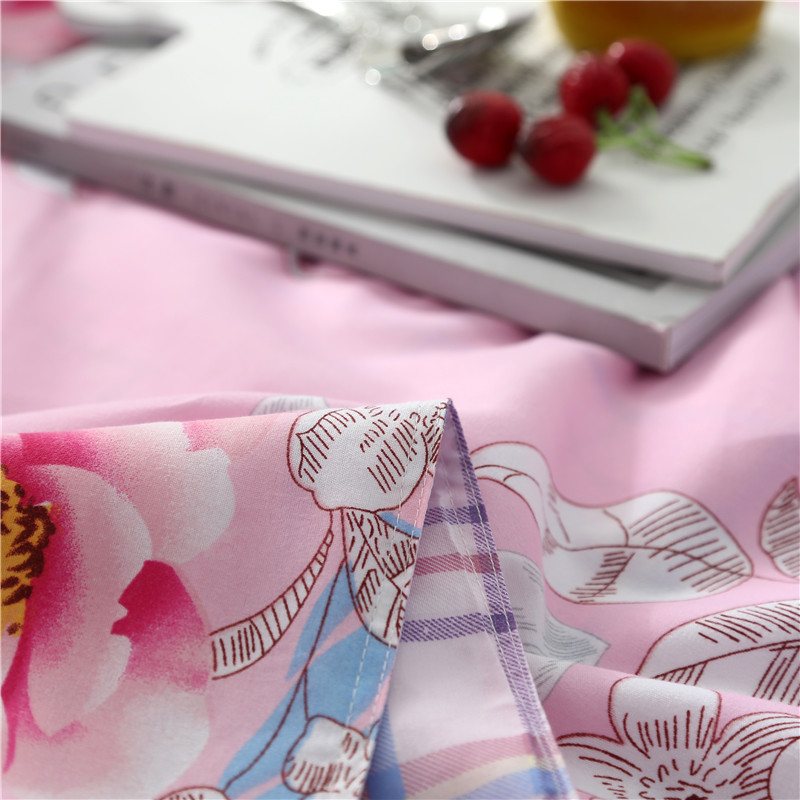SLOWDREAM Bedding Set Flower Nordic Comforter Double Flat Sheet Butterfly Bedspread Duvet Cover Adult Queen King Bed Linen Set in Bedding Sets from Home Garden