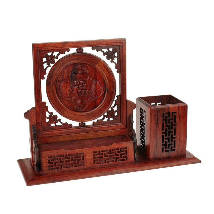 Red acid branch pen cantainer creative multifunctional pen holder office supplies solid wood carving combination pen business giRed acid branch pen cantainer creative multifunctional pen holder office supplies solid wood carving combination pen business gi
