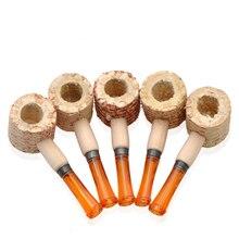 Mini Original corn cob tobacco pipe as healthy smoke cigarette filter eco-friendly