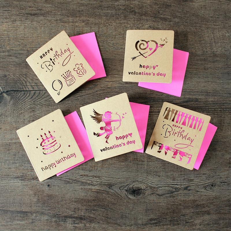 20Cards 20Kraft Envelopes Creative Hollow Out Kraft Folding – Handmade Greeting Cards for Birthday