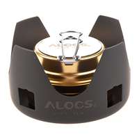 New Sale ALOCS Portable Mini Ultra Light Spirit Burner Alcohol Stove Outdoor Backpacking Hiking Camping Furnace