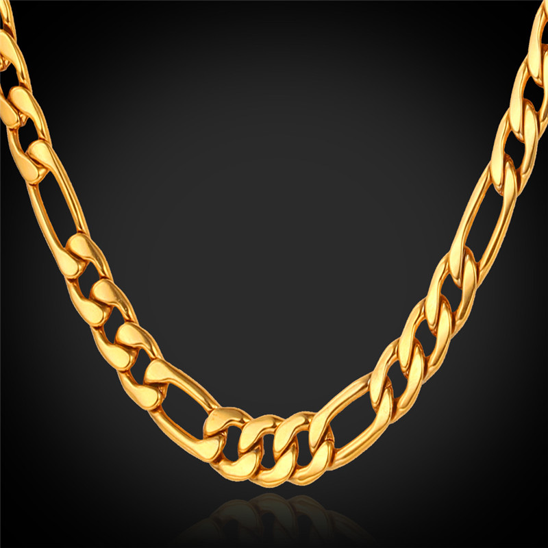 Kpop Figaro Necklace Gold Color Chain For Men High Quality