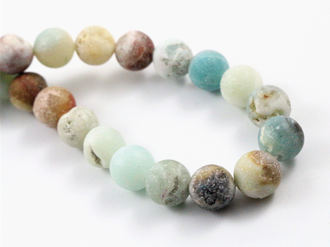 4mm 6mm 8mm 10mm Matt Natural Amazonite Stone Beads Forest Loose Round Beads For Jewelry Making Wholesale And Retail