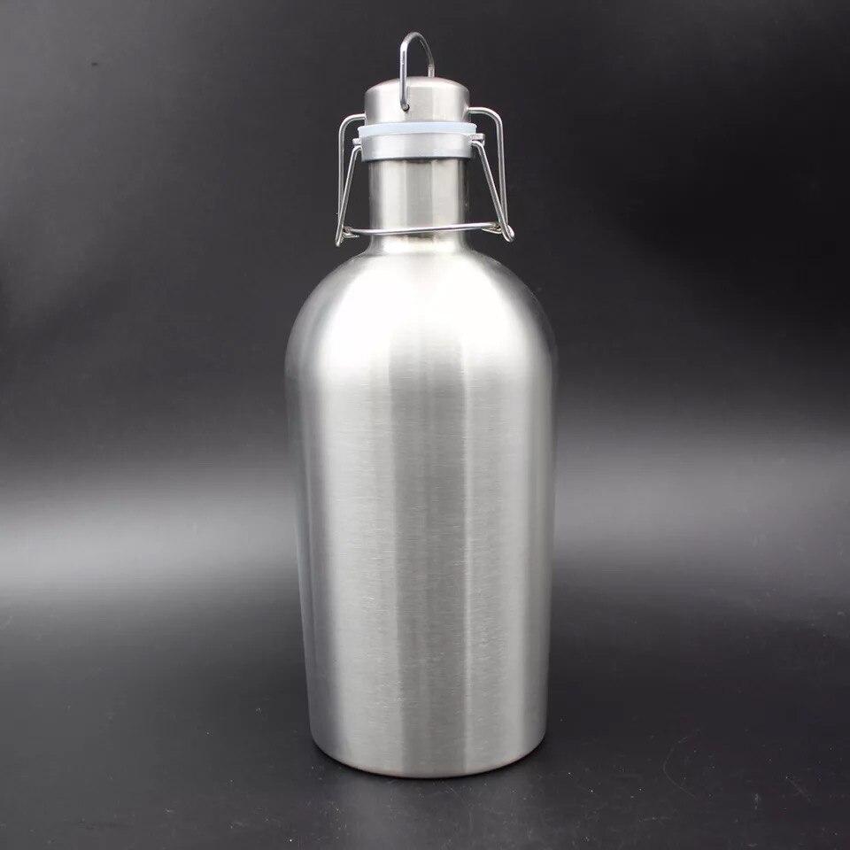 2.5L  Homebrew Beer Growler 304 Stainless Steel Home Brew Flip Top Bottle