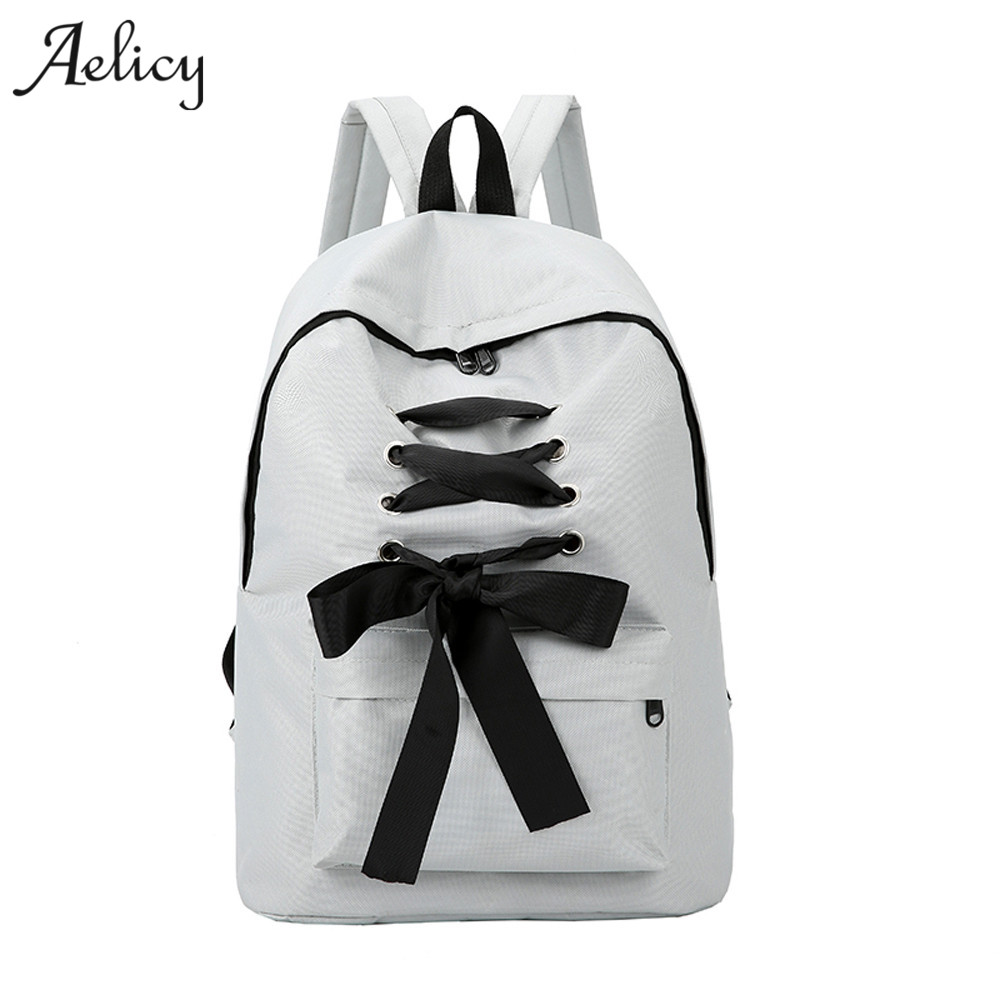 Aelicy Simple Colour Women Backpack Students School Bags for Teenage Girls Rucksack mochilas escolares para adolescentesAelicy Simple Colour Women Backpack Students School Bags for Teenage Girls Rucksack mochilas escolares para adolescentes