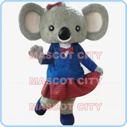 Costume della mascotte formato adulto della mascotte koala ragazza