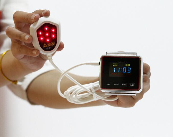 Наручные Мягкая Лазерная терапия устройства с 18 лазеры точки для высокого кровяного давления высокий уровень сахара в крови тело боли Бесп...
