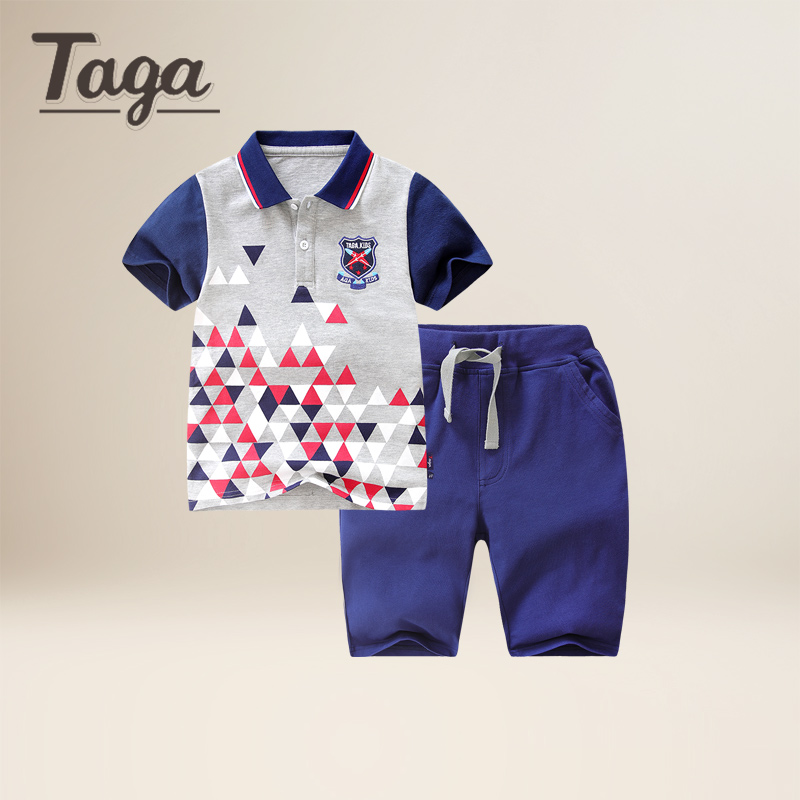 TAGA High Quality Boys kids Clothing Set Owl Cartoon Short Sleeve T-Shirts tops+ Pants Set Baby Children Clothing Sports Suits easy guide to sewing tops and t shirts skirts and pants