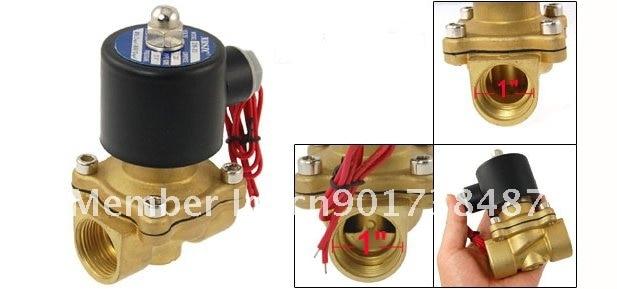 """5 шт. """" 25 мм пор воды электрический клапан соленоидной воды 2W250-25 110VAC"""