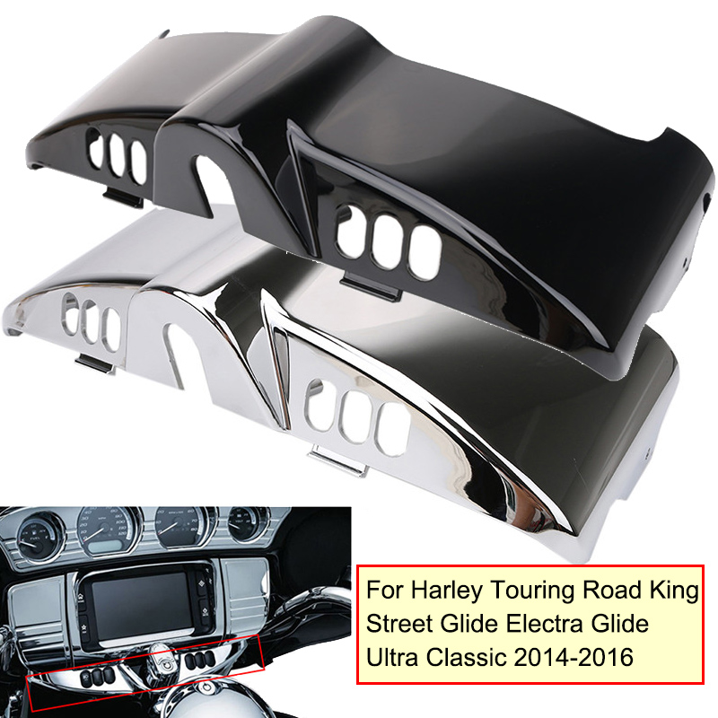 Black / Chrome Inner Fairing Cap Cover For Harley Touring Road King Street Glide Electra Glide Ultra Classic 2014 2015 2016 yuzhe flax universal car seat covers for toyota rav4 prado highlander corolla camry prius reiz crown yaris accessories styling
