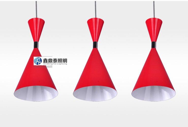 3 bulbs Pendant Light Lamp Red Black White optional modern Pendant lamp singular bulbs magic props white silver black