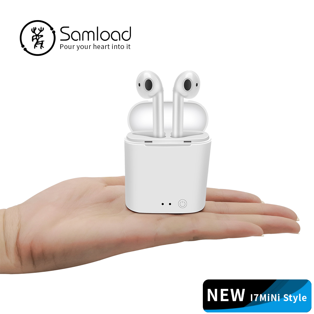 Samload TWS Bluetooth Earphones i7s Mini True Wireless Earbud Headset For apple headphones iPhone Android Charging Box Samsung
