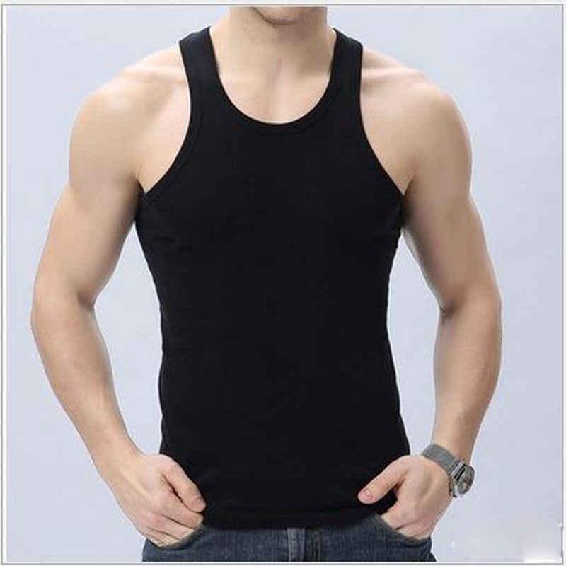 Nueva camiseta ajustada sin mangas para hombres a la moda, camiseta sin mangas, camiseta sin mangas para culturismo, chaleco de Fitness, camisetas sin mangas ajustadas con estilo para hombres