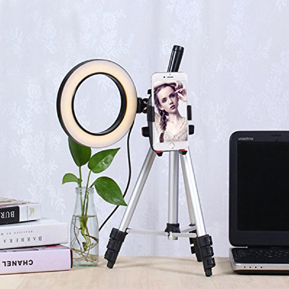 Mobile Phone Holder 5.7 Inch Dimmable LED Ring Light with Stand 360 Degree Rotation for Makeup Phone Holder Sta|Phone Holders & Stands| |  - title=