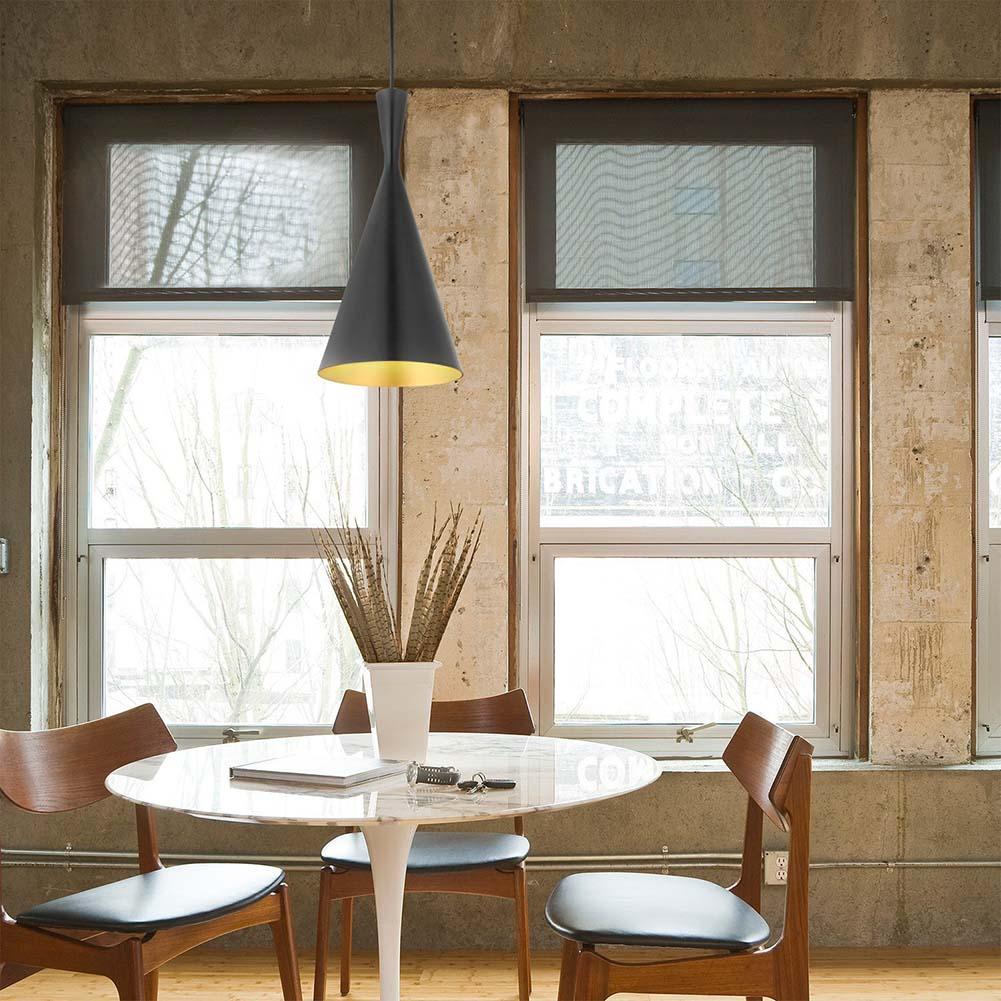 Vintage Pendant Lights Loft Lamp Nordic Hanging Restaurant Kitchen Light Gold Inner Finish Luminaire Home Industrial Lighting