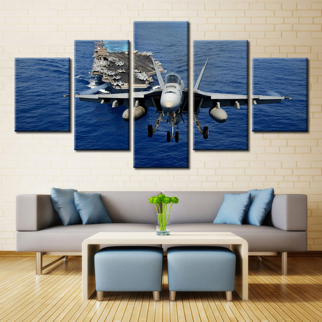 Elicottero Aircraft Carrier Battleplane Freddo Immagini Pittura A ...