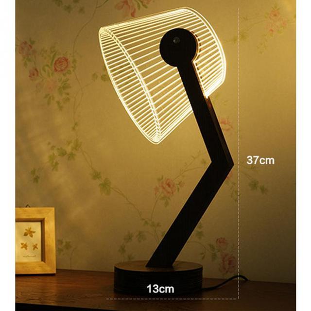 Optical Illusion Shape Desk Lamp for Art Decoration Children Toy ...