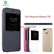 Huawei Honor V9 Флип Чехол Nillkin Искра Серии PU Кожаный Чехол Флип Чехол Для Huawei Honor V9 С Видом На Окна