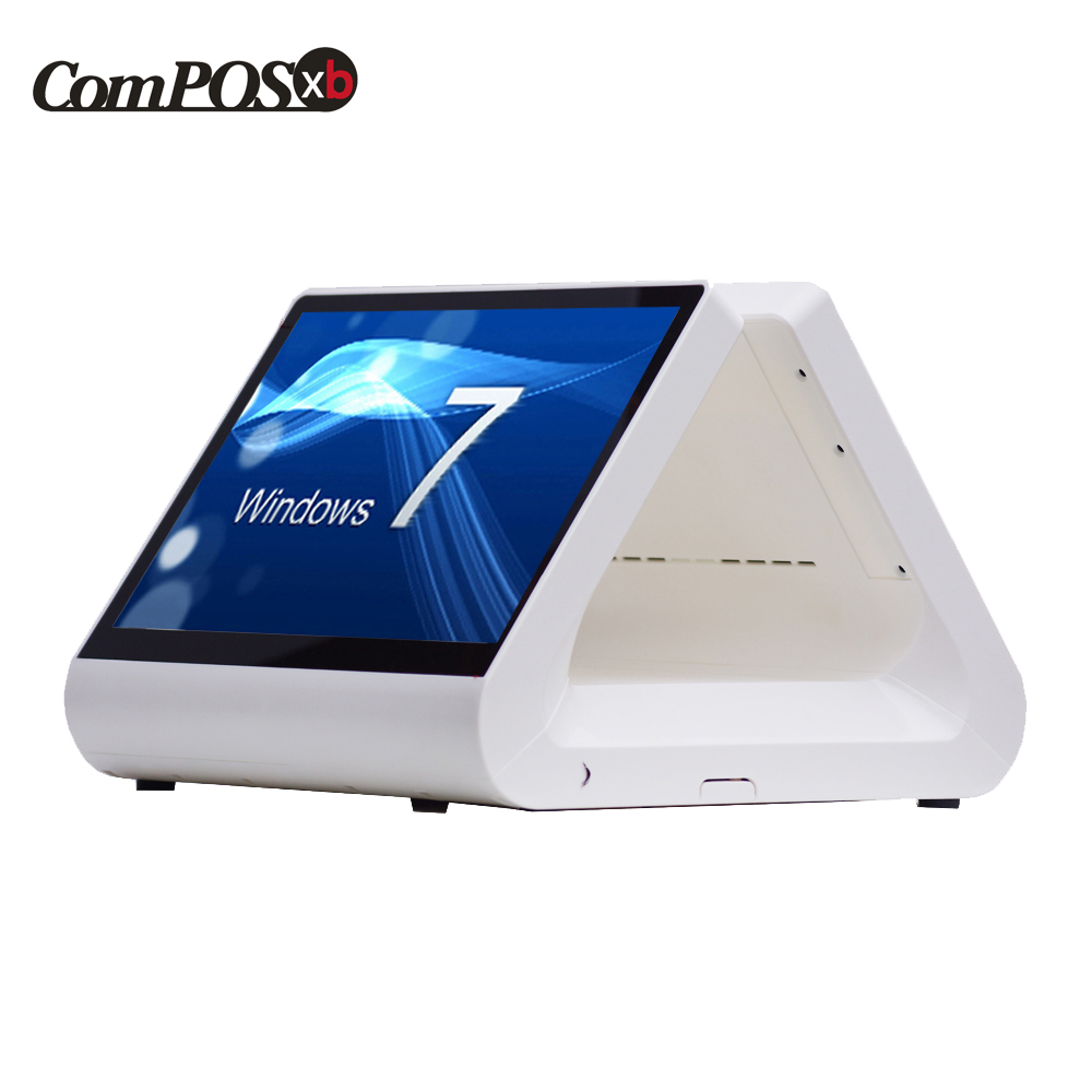 New 12 inch pos system capacitive touch screen monitor restaurant all in one windows POS8812pro pos 50 relays