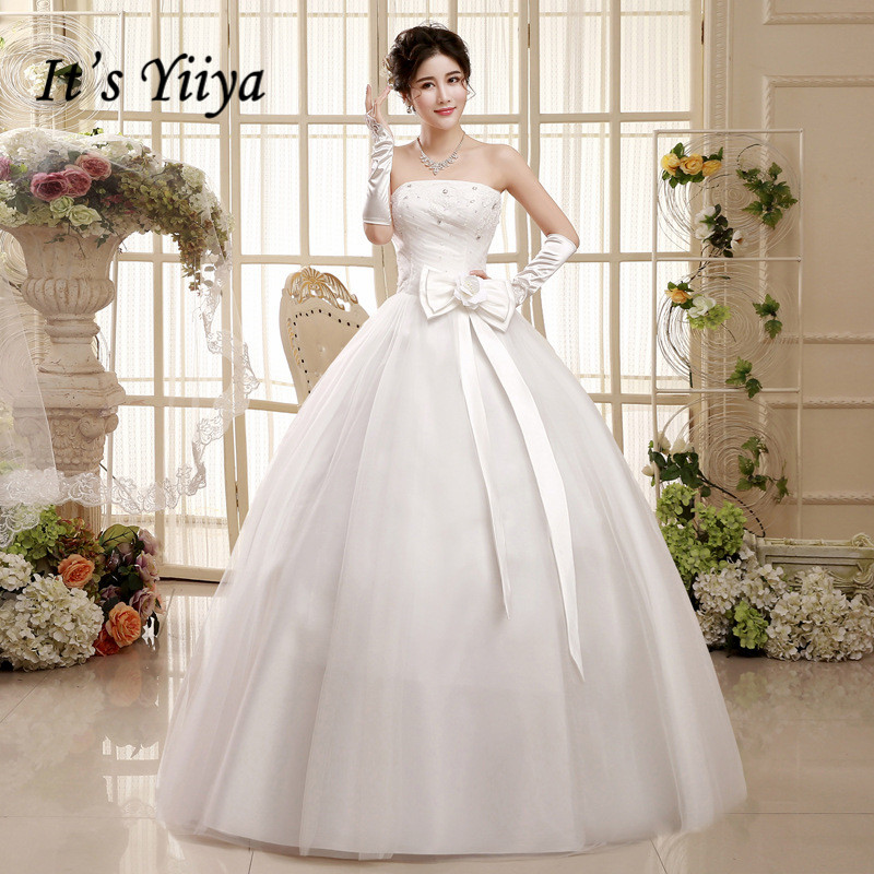 2017 Summer Vestidos De Novia Real Photo White Bow Waist