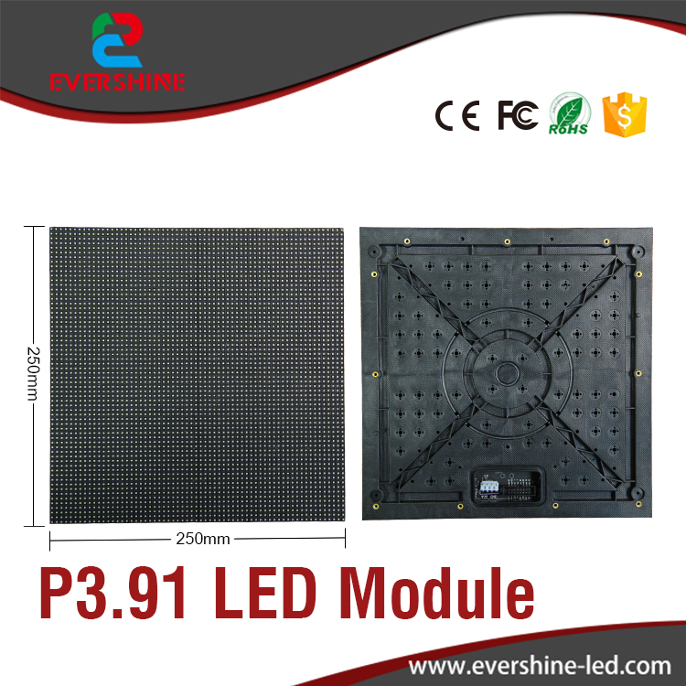 ФОТО p3.91 indoor LED module manufacture full color led panel 1/16 scan  size 250x250mm hd display