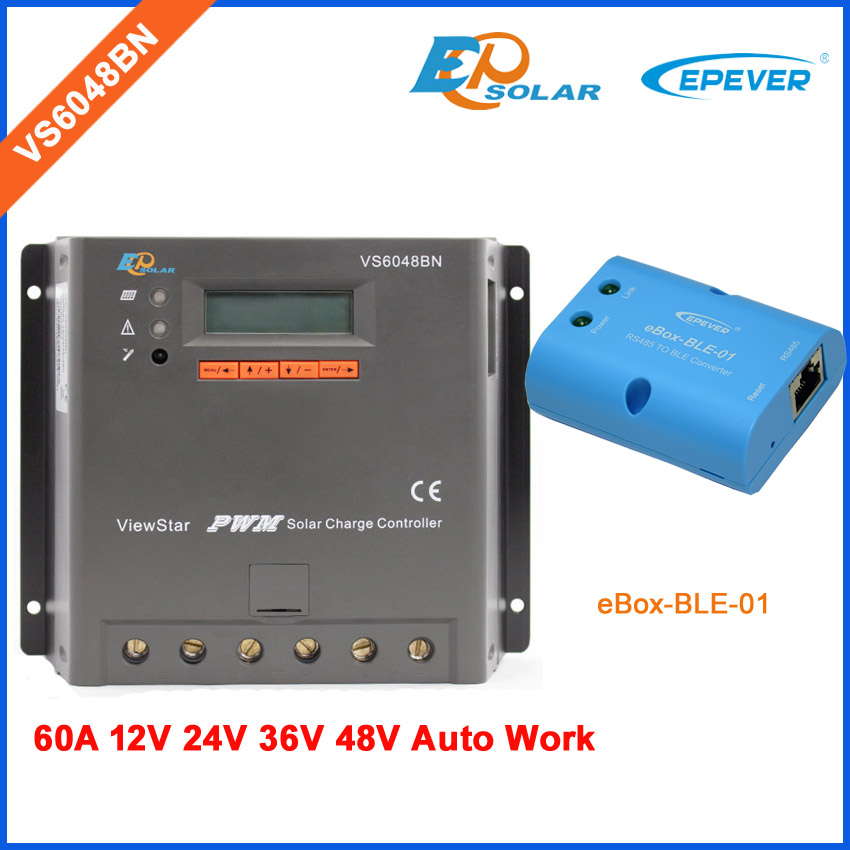 VS6048BN EPSolar EPEVER Controller for solar panel system use 60A 60amp bluetooth function Mobile Phone APP use white color mt50 remote meter for controller solar battery regulator use vs6048bn 60a 60amp pwm epsolar controller
