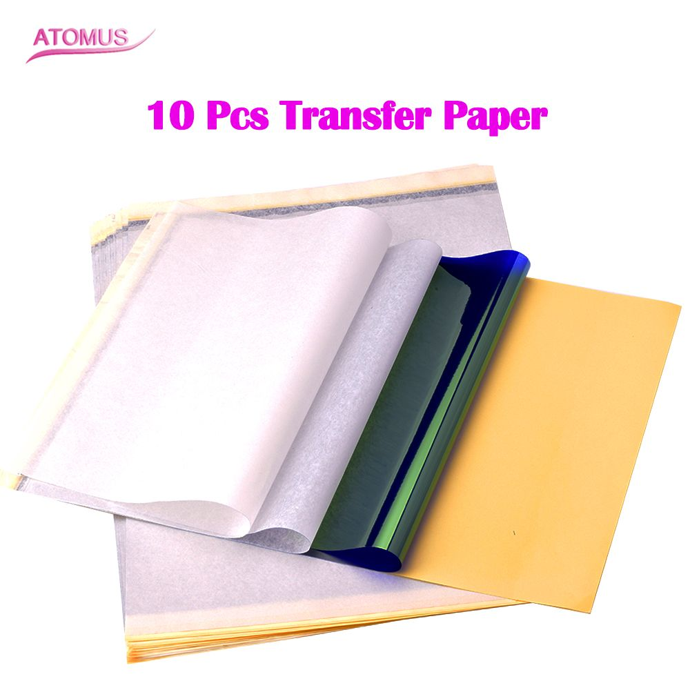 Tattoo Stencil Transfer Carbon Paper Top 10 pcs A4 Size Thermal copier paper for Tattoo supply 10pcs usa import tattoo thermal paper stencil carbon stuff tattoo equipment 3 layer free shipping