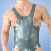 Latex Tank top For Men Fetish Exotic Vests t Sexy Plus Size Customization 100% Natural Handmade