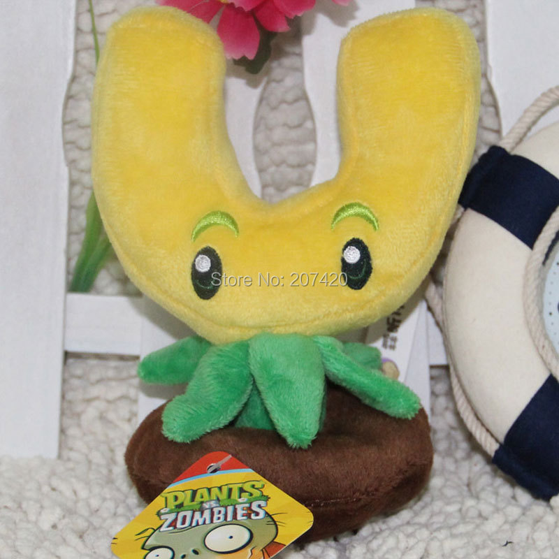 6.5inch 17cm Cute Plant Vs Zombies Series Plant GOLD MAGNET Plush Toy Doll,1pcs/pack