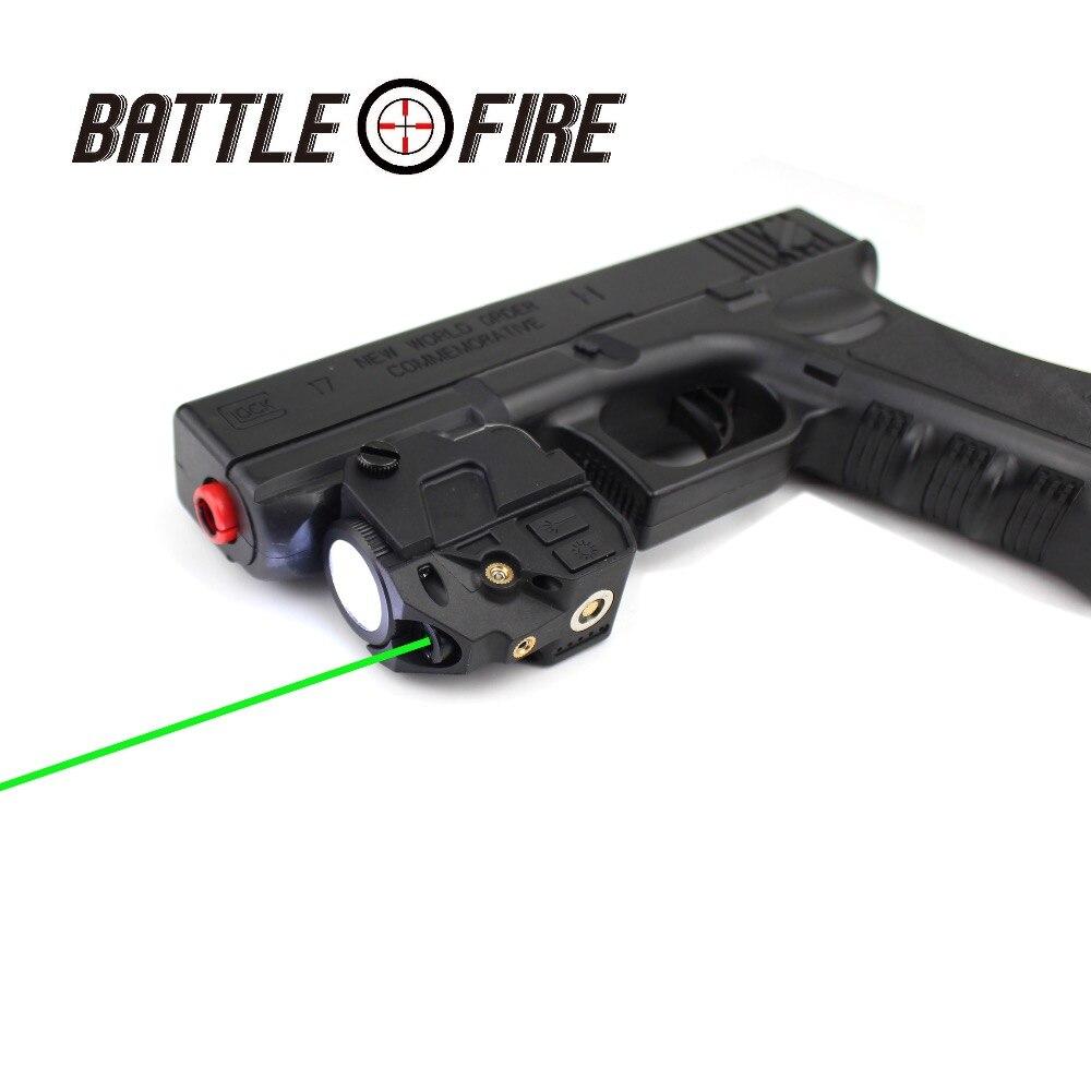 Magnétique Rechargeable Tactique Micro collimateur Vert visée Laser avec lampe de poche led Subzero pour la chasse glock fleshlight