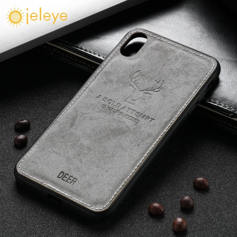 new arrivals 6c839 12011 Ojeleye Cloth Case For Iphone 6 6S 7 8 Plus Cases Silicone Shock-Proof  Fundas For Iphone X XR Xs Max Cover Christmas Deer Coque
