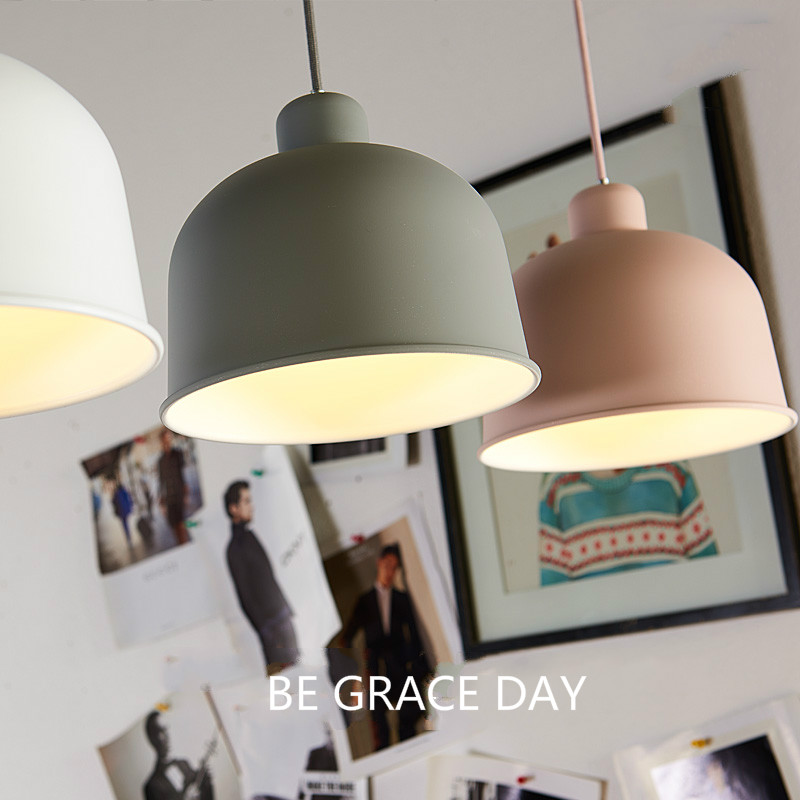 Nordic colored aluminum pendant light modern minimalist creative restaurant bar dining bedroom hall lights color pendant lamp light the mediterranean restaurant in front of the hotel cafe bar small aisle entrance hall creative pendant light df57