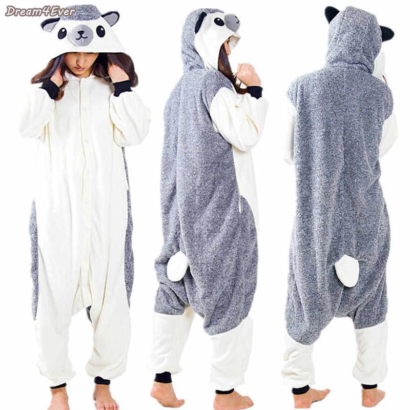 87b4c143fe7d Fleece Newest Cartoon Gray Hedgehog Animal Pajamas Adult Unisex Hedgepig  Onesie Halloween   Christmas Party Costume