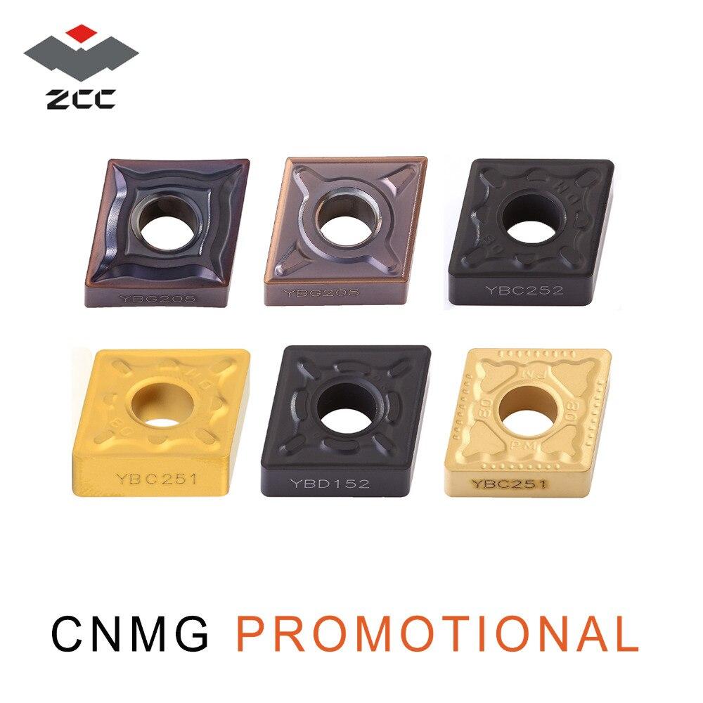 10 pçs/lote ZCC. CT carboneto de tungstênio insere CNMG promocionais CNMG1204 CNMG1208 12 ferramenta de torno cnc para o aço fundido de ferro