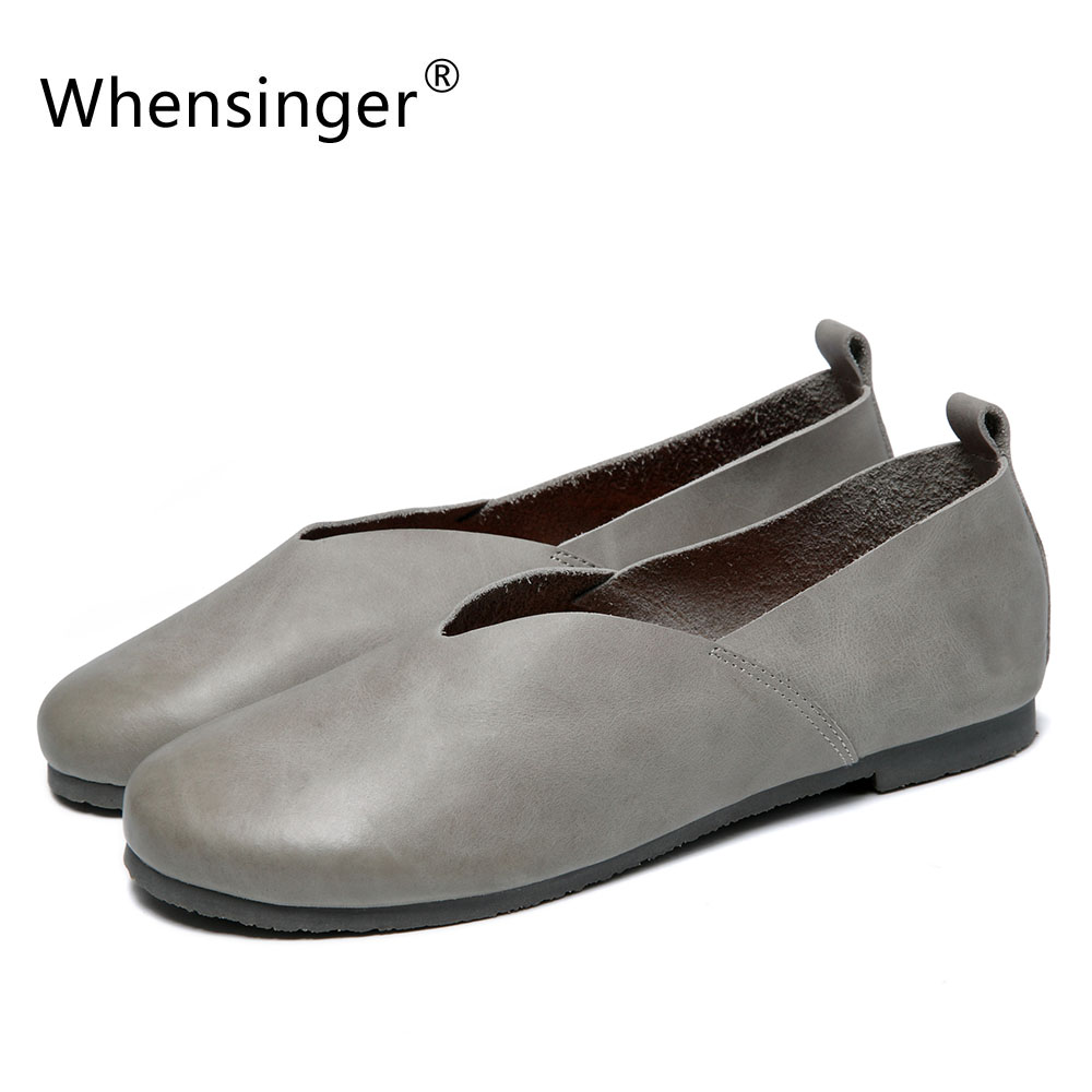 Whensinger - 2018 Woman Shoes Slip On Fl