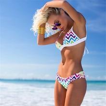 Rainbow bikini 2018 sexy swimwear women bikinis Brazilian women mini micro bikini set swimsuit girl stripy swim suit