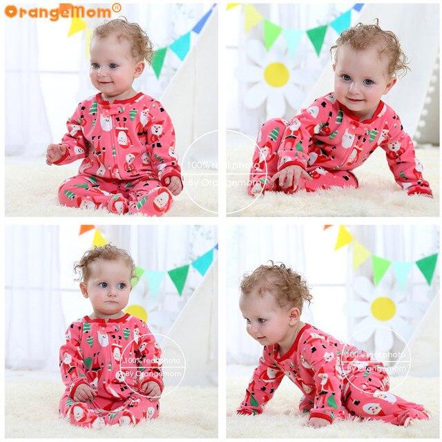 Orangemom عيد الميلاد الربيع الخريف ملابس الطفل الوليد لينة الصوف السروال القصير 0-24m الرضع بذلة الطفل الكرتون ازياء منامة 3