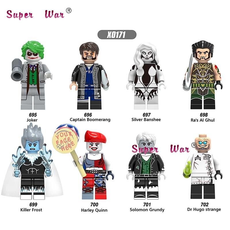 8pcs Star wars super hero Joker Harley Quinn Killer Frost Solomon Grundy Captain Boomerang kit building blocks toys for children