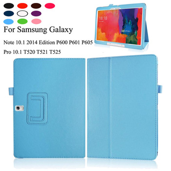 Pu Leather Case Voor Samsung Galaxy Tab Pro 10.1 SM-T520 SM-T525 Stand Cover Voor Opmerking 10.1 2014 Edition SM-P600 SM-P601 SM-P605