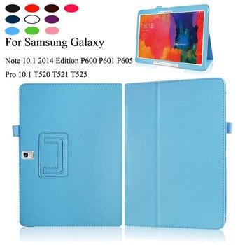 עור מפוצל מקרה עבור Samsung Galaxy Tab Pro 10.1 SM-T520 SM-T525 STAND כיסוי עבור הערה 10.1 2014 מהדורת SM-P600 SM-P601 SM-P605