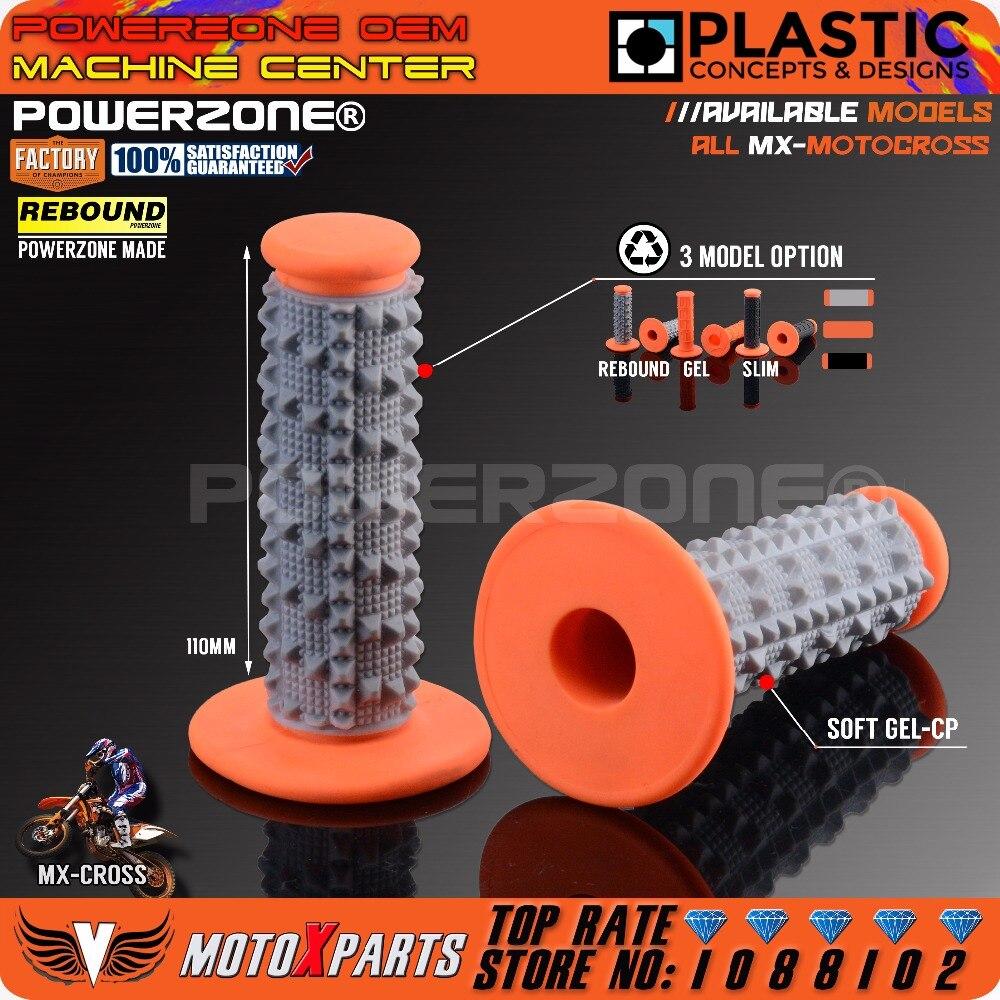 Powerzone Metals Rebound Grips GEL Slim Pro Taper Grip For KTM SX F XC-F EXC EXC-F/ W XC-W 50 85 250 530 SMR MX Dirt Bike Enduro