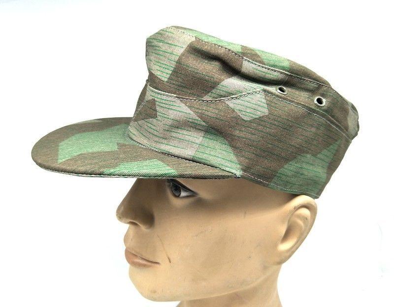 a0e14234f66 WW2 GERMAN ARMY ELITE SUMMER SPLINTER CAMOUFLAGE CAMO FIELD CAP military HAT