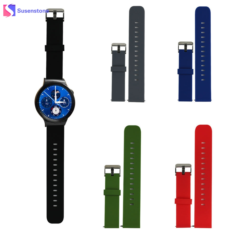 High Quality Silicone Rubber Watchband Fashion Sport Watches Band Watch Strap with Steel Buckle For Huawei Smart Watch Wristband 20mm 23mm high quality rubber silicone watchband for armani silicone rubber wrapped stainless steel watch strap for ar5906 5890