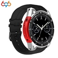 696X100 Bluetooth Smart Uhr Herz Rate fitness Tracker ROM 4 GB 3G GPS Android 5.1 SmartWatch Männer Sport watchs-in Smart Watches aus Verbraucherelektronik bei