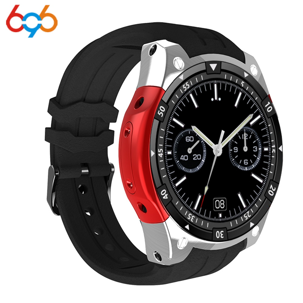 696X100 Bluetooth montre intelligente fréquence cardiaque fitness Tracker ROM 4 GB 3G GPS Android 5.1 SmartWatch hommes Sports Watchs