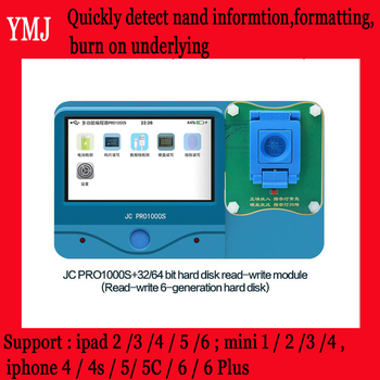 JC Pro1000S NAND Programmer 32/64 Bit Hard Disk Read and Write Module,Removeable for iPhone and iPad/ iPad mini Repair Tools