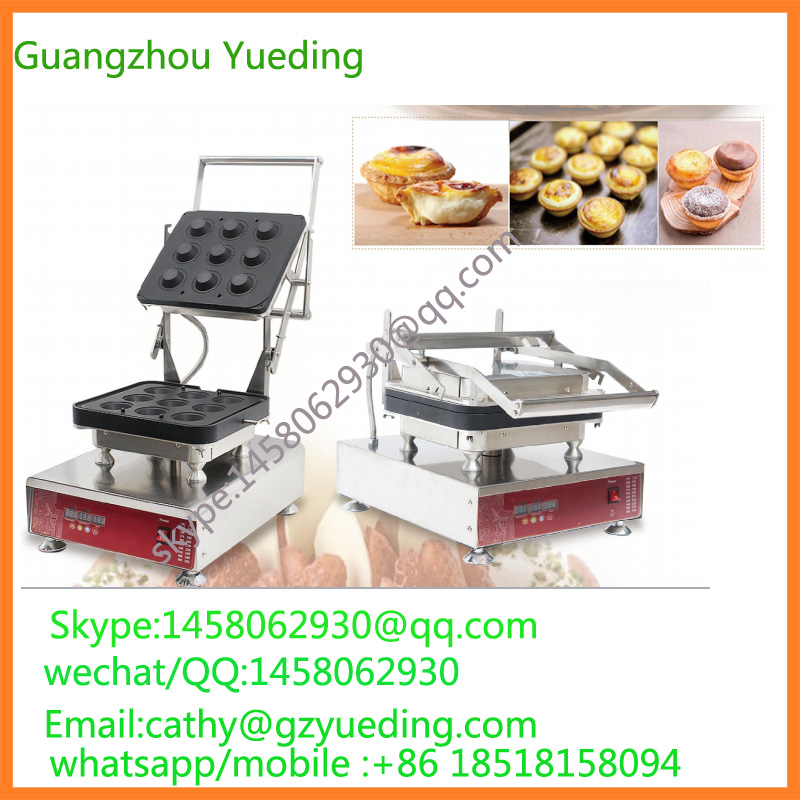 automatic 9 pieces cake cup making machine / egg tart waffle maker delicious snacks equipment automatic egg tart skin forming machine egg tart skin machine