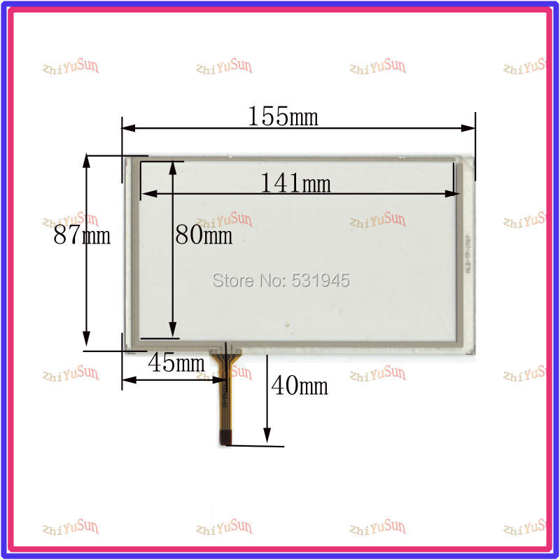 HLD-TP-1767 NEW 6.2 Inch Touch Screen 155*87 for industry applications 155mm*87mm for GPS GLASS