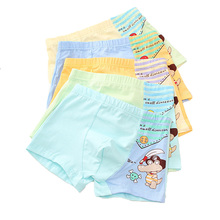 5PCS/lot Fashion New Style Childrens Cotton Boxer Kids Underwear Panties Boys Underpants Shorts Cartoon Teenager 2-12year Boy