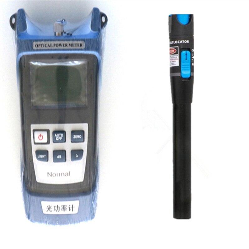 Kit de herramientas de fibra óptica 2 en 1 FTTH medidor de potencia óptica de fibra y VFL 5km 1mW de falla Visual localizador fibra óptica pluma envío gratis